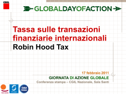 Presentazione della Financial Transaction Tax