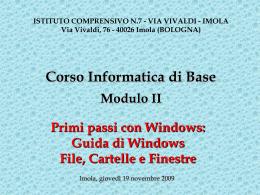 Lezione del 19/11/2009 - Guida di Windows