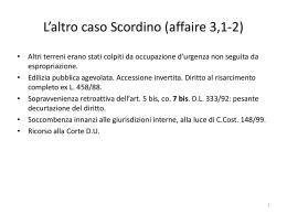 L`altro caso Scordino (affaire 3,1-2)
