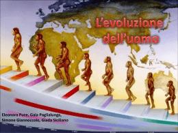 l`evoluzione dell`uomo