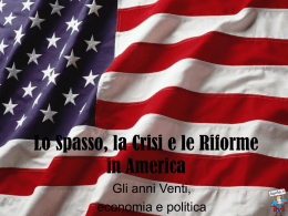 Presentazione in Power Point di Emanuele Filippi (La crisi del 1929)
