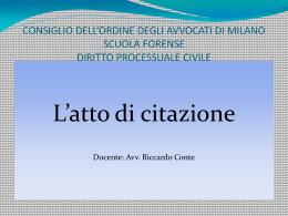 Mutatio libelli - Ordine degli Avvocati di Milano