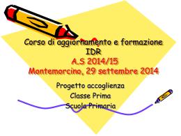 Progetto accoglienza - Presentazione
