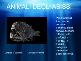 ANIMALI DEGLI ABISSI