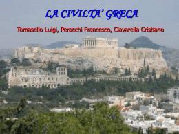 L`antica Grecia - ITIS Leonardo da Vinci