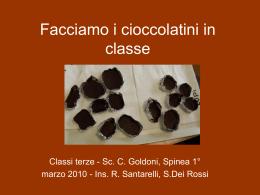 Facciamo i cioccolatini in classe