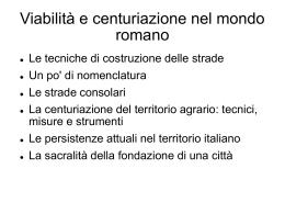 Centuriazione - Liceo Classico Psicopedagogico Cesare Valgimigli