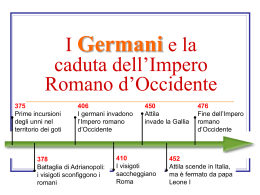 I Germani e la caduta dell`Impero Romano d`Occidente