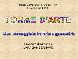laboratorio arte geometria - Istituto Comprensivo n.5 Coletti