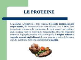 le proteine di origine animale