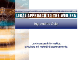 Legal Approach to the Web Era 2002