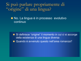 storia della lingua