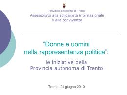 Donne e politica - Pari opportunità