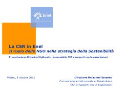 La CSR in Enel