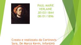 PAUL-MARIE VERLAINE 30/03/1844 08/01/1896