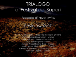TRIALOGO al Festival dei Saperi Pavia 06/09/07 Yuval Avital