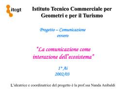 La Comunicazione come interazioni dell - GB Carducci