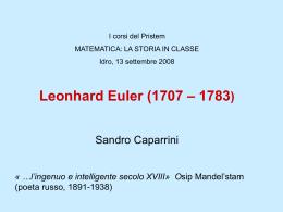 Caparrini - La vita di Leonhard Euler