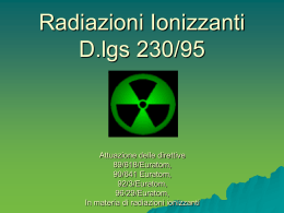 Radiazioni Ionizzanti Università