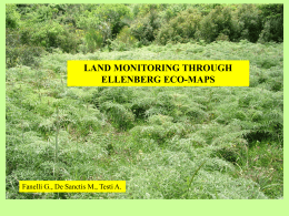 Testi EcoMappe LAND MONITORING