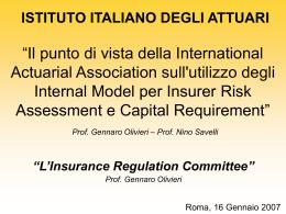 Presentazione prof. Olivieri - Istituto Italiano degli Attuari