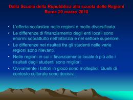 Dalla Scuola della Repubblica alla scuola delle Regioni Roma 20