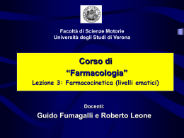 Lezione Farmacocinetica 3 (vnd.ms-powerpoint, it, 414 KB, 2/18/09)