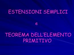 Estensioni Semplici e Teorema dell`Elemento Primitivo