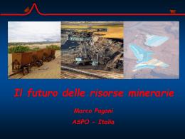 Marco Pagani - Il futuro delle risorse minerarie