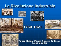 XVIII-XIX SECOLO La rivoluzione industriale