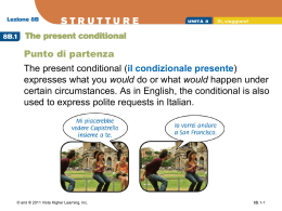 8B.1 The present conditional