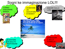 I sogni Power point