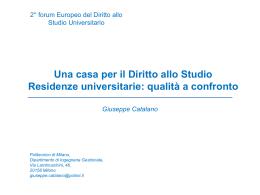 Giuseppe Catalano - case diritto allo studio
