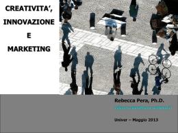 Creatività, innovazione e marketing