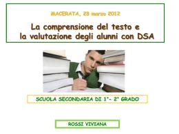 Comprensione del testo e valutazione alunni DSA