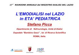 L`Emodialisi nel Lazio in età pediatrica