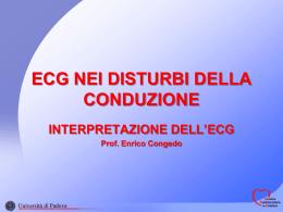 ECG NEI DISTURBI DELLA CONDUZIONE