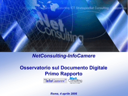 NetConsulting-InfoCamere Osservatorio sul Documento Digitale