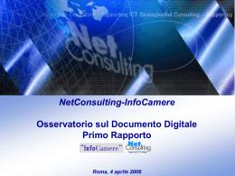 NetConsulting-InfoCamere Osservatorio sul Documento Digitale