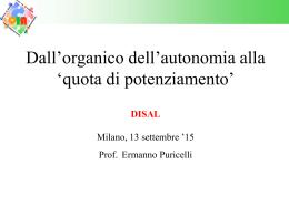 Organico di potenziamento - Istituto Comprensivo Salvatore Casella