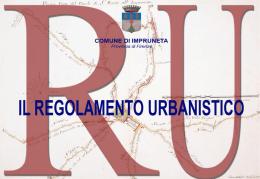 Sintesi contenuti del Regolamento Urbanistico