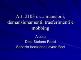 Presentazione ART. 2103 - CSDDL.it