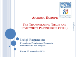 TTIP Presentation of Luigi Paganetto