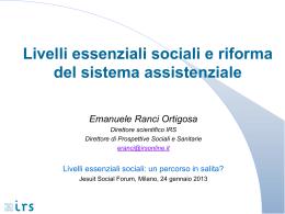 Diritti sociali e livelli essenziali