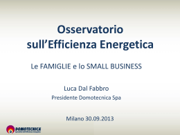 Osservatorio sull`efficienza Energetica, 2013