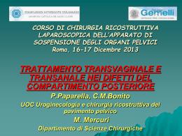 Trattamento transvaginale e transanale nei