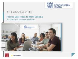 Confindustria VE_presentazione progetto Best Place to Work DEF