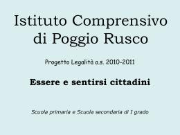 Presentazione Continuità 2011 - Istituto Comprensivo di Poggio Rusco