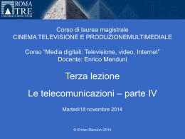 Media Digitali 2014-15 lezione 3 parte I