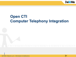 OpenCTI – Computer Telephony Integration